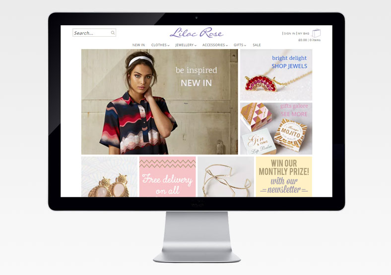 web design leamington spa - lilac-rose