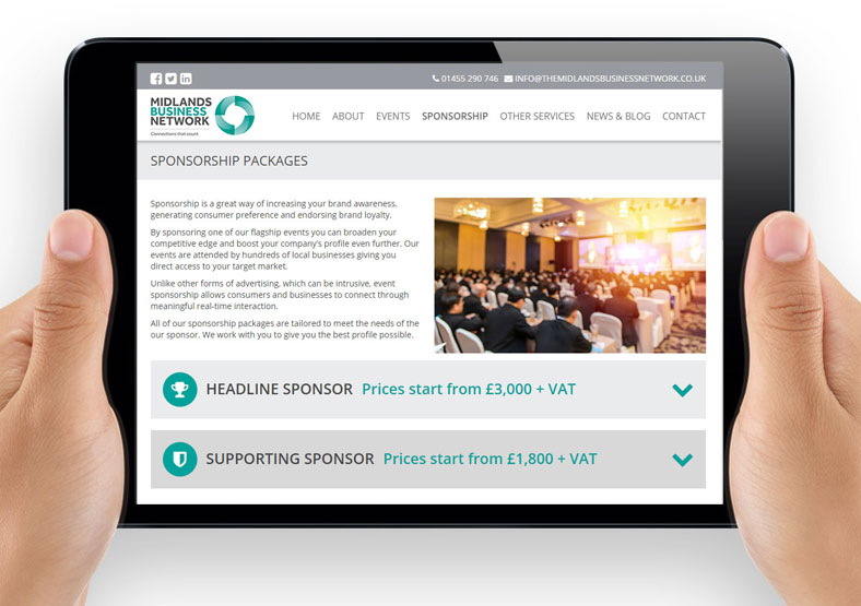 Midlands Business Network website design