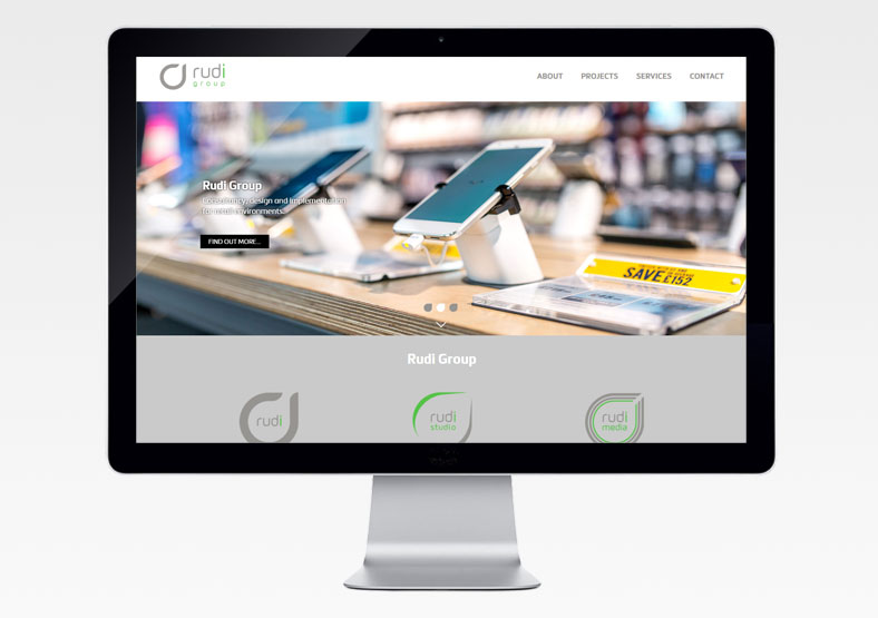 Rudi Group website design for business