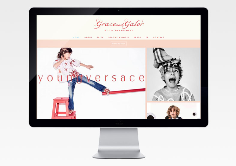 Grace and Galor website development