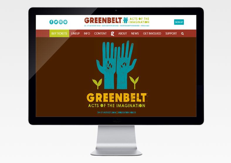 Greenbelt Festival website development