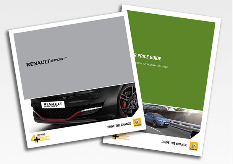 Renault brochure design