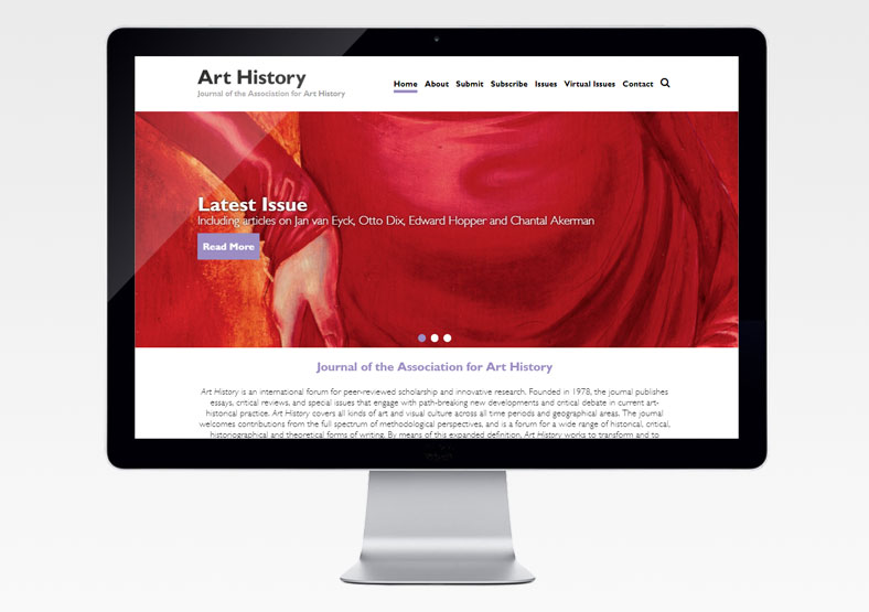 Art History Journal website design
