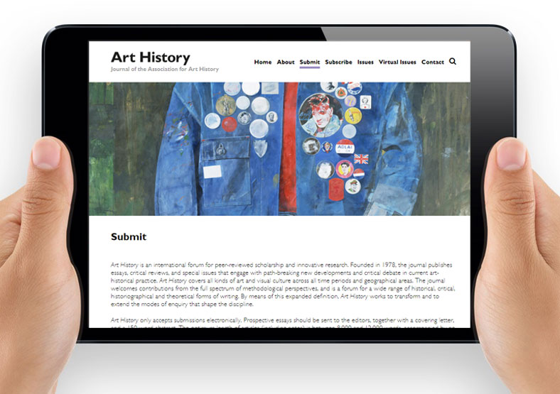 Art History Journal website design