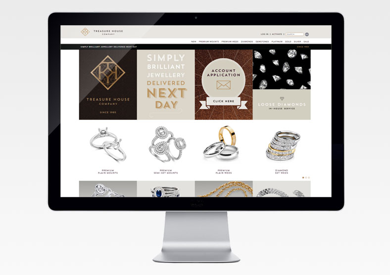 Treasure House Company website development