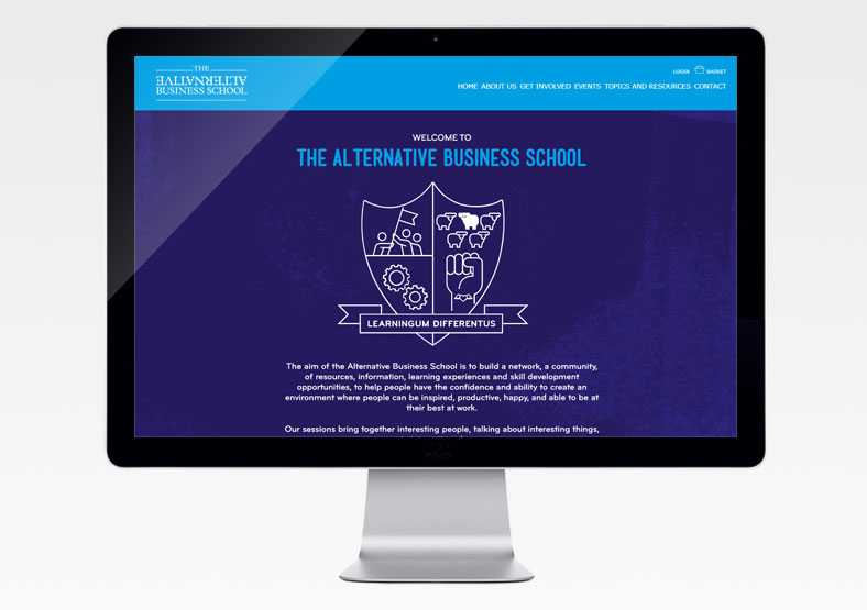 Alternative Business School website design for education