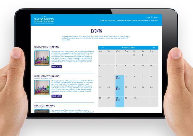Alternative Business School website design for education