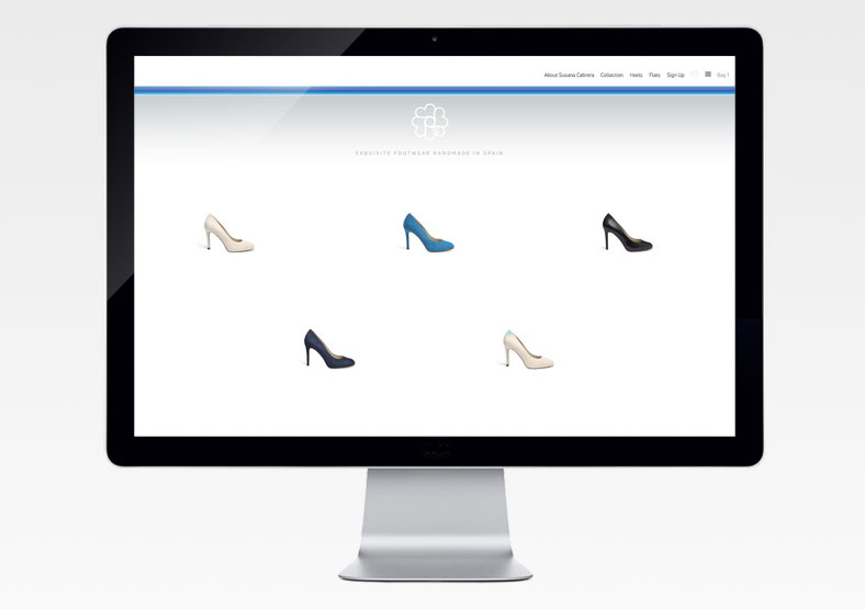 Susana Carbrera shoes ecommerce website development