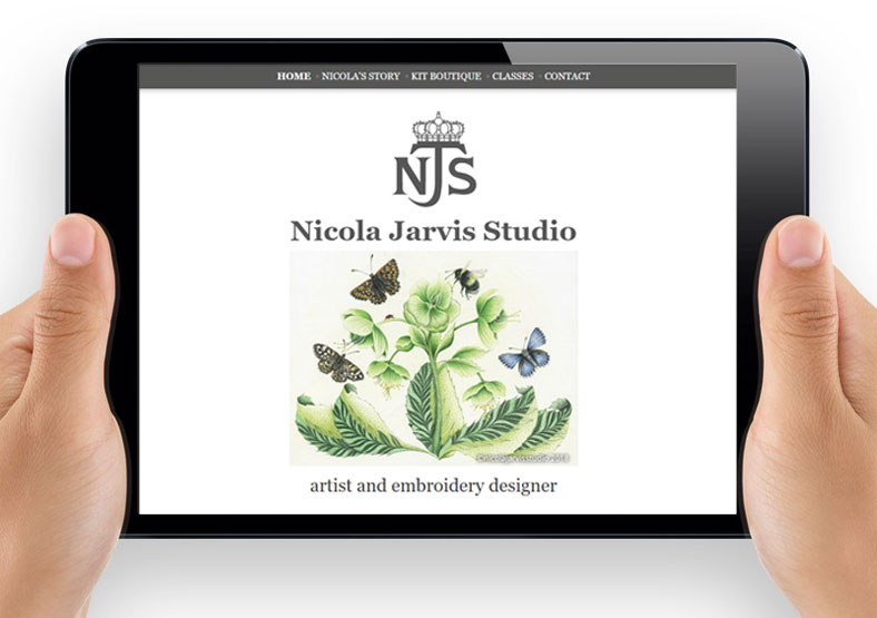Nicola Jarvis Studio website design Leamington