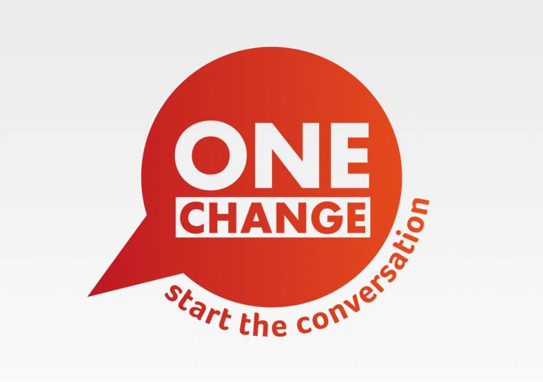 One Change logo and graphic design