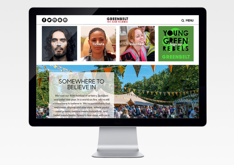 Greenbelt Festival website development